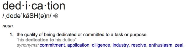 dedication definition